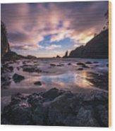 Washington Coast Skies Blue Clarity Wood Print