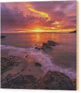 Washington Coast Sunset Serene Evening Wood Print