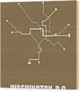 Washington, D.c. Subway Map 2 Wood Print