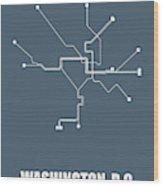 Washington, D.c Subway Map Wood Print