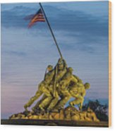 Washington D.c., Us Marine Corp Memorial Wood Print