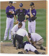 Washington Nationals V Colorado Rockies Wood Print