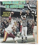 Washington Redskins Darryl Grant, 1983 Nfc Championship Sports Illustrated Cover Wood Print