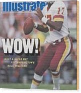 Washington Redskins Doug Williams, Super Bowl Xxii Sports Illustrated Cover Wood Print
