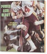 Washington Redskins John Riggins, Super Bowl Xvii Sports Illustrated Cover Wood Print