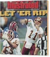 Washington Redskins Qb Mark Rypien, Super Bowl Xxvi Sports Illustrated Cover Wood Print