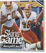 Washington Redskins Stephen Davis... Sports Illustrated Cover Wood Print
