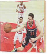 Washington Wizards V Atlanta Hawks - Wood Print