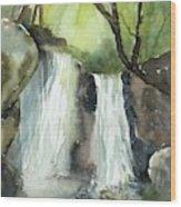 Watcom Falls Wood Print