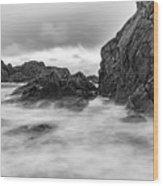 Water Of Fog Wood Print