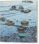 Water Pollution Wood Print