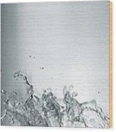 Water Splash Wood Print