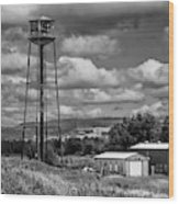 Water Tower In Hillsborough New Brunswick Wood Print