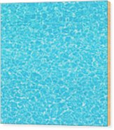 Water Wave Pattern Of Swimming Pool Wood Print