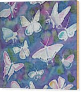 Watercolor - Butterfly Design Wood Print