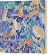 Watercolor - Fox And Firefly Design Wood Print