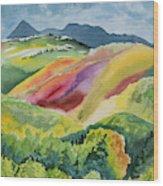 Watercolor - Wilson Mesa Landscape Impression Wood Print