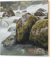 Waterfall, Bc, Canada Wood Print