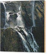 Waterfalls At The Cirque De Gavarnie Wood Print
