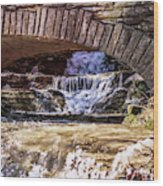 Waterfalls Through Stone Bridge Wood Print