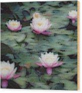 Waterlily Impressions Wood Print