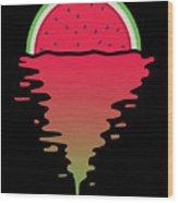 Watermelon Sunset Wood Print