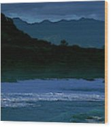 Waves In The Pacific Ocean, Waimea Bay Wood Print