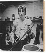 Wayne Gretzkys Last Wha Game Wood Print