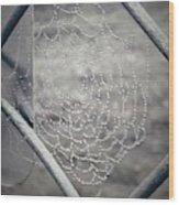 Web Dew Wood Print