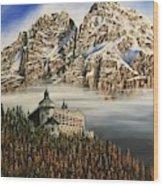 Werfen Austria Castle In The Clouds Wood Print