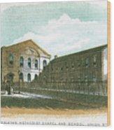 Wesleyan Methodist Chapel And School Wood Print