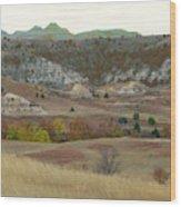 Western Edge Grasslands Grandeur Wood Print