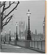 Westminster At Dawn, London Wood Print