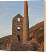 Wheal Coates Mine Chapel Porth Cornwall Wood Print