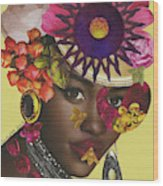 When African Eyes Are Smiling Wood Print