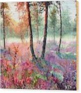 When Heathers Bloom Wood Print