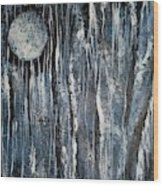 When Night Comes Wood Print