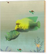 Whimsical Fish Wood Print