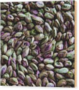 Whirling Pistachios Wood Print