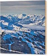 Whistler In Winter Wood Print