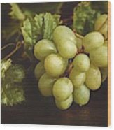 White Grapes Wood Print