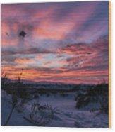 White Sand Sunset Wood Print