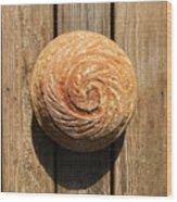 White Sourdough Spiral Wood Print