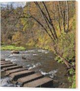Whitewater River Scene 55 C Wood Print