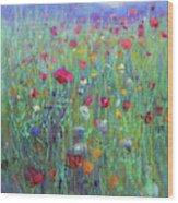 Wild Meadow Wood Print
