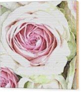 Wild Pink Roses Wood Print