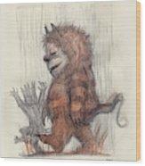 Wild Things Wood Print