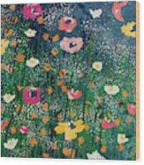 Wildflowers 2- Art By Linda Woods Wood Print
