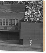 Willie Mays Makes His Famous Catch Off Wood Print
