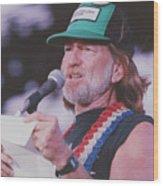 Willie Nelson Reading Letter Wood Print